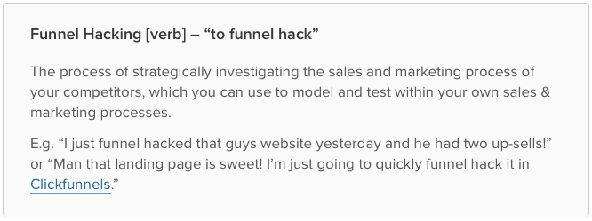 What is Funnel Hacking – Definition