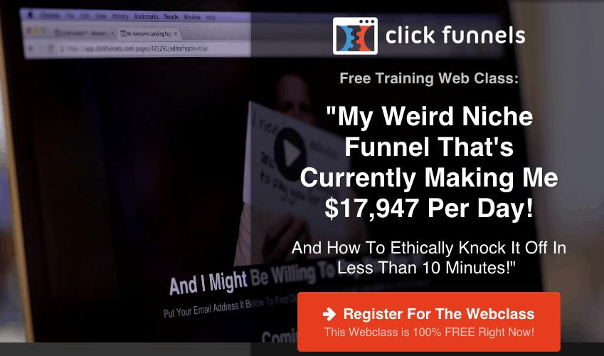 Clickfunnels Live Webinar Class